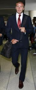 David Beckham blue navy suit