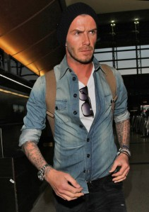 David Beckham casual
